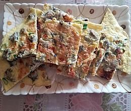 海蛎子葱花蛋饼的做法