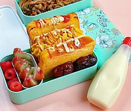 #321沙拉日#轩的早餐~爆蛋吐司的做法