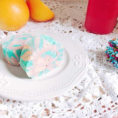 治愈系夢幻 蛋糕卷 軟軟嫩嫩的口感 夏日冰淇淋色彩