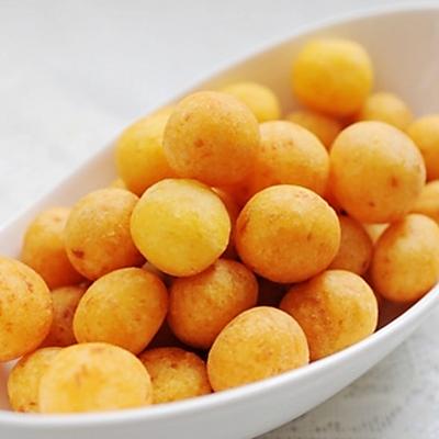 简单零食:自制炸红薯球/奶香地瓜丸子