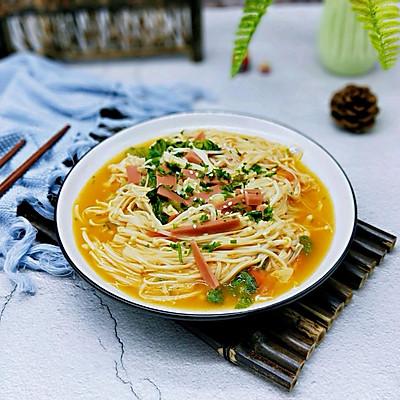 茄汁火腿金针菇