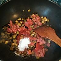 茄丁打卤面的做法图解3