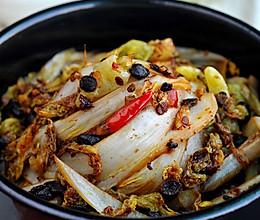 石锅豉椒娃娃菜的做法