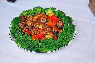 甜椒炒贝肉