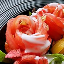 冰爽优酸乳拌番茄,你一定要吃!#夏日消暑,非它莫属#