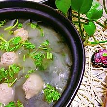 #炎夏消暑就吃「它」#老黄瓜丸子汤