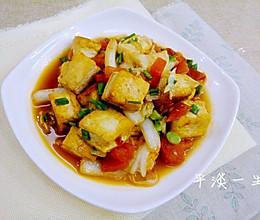 番茄白菜炒豆腐的做法
