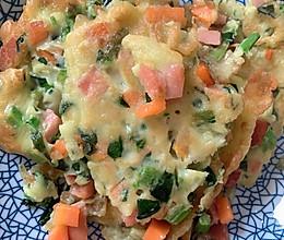 菠菜胡萝卜鸡蛋饼的做法