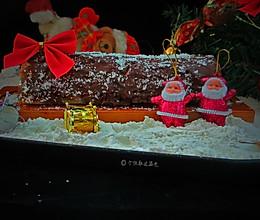 #令人羡慕的圣诞大餐#五分钟快手树桩蛋糕的做法