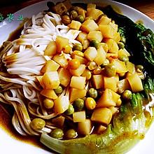 咖喱土豆盖浇面
