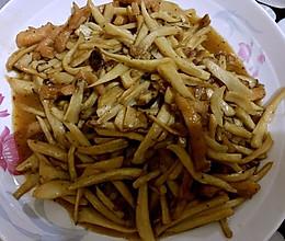 黑椒鸡丝杏鲍菇的做法