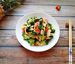 西兰花红萝卜烩鸡肉#带着美食去踏青#的做法