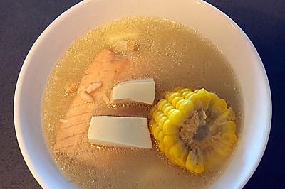 三文鱼味增汤