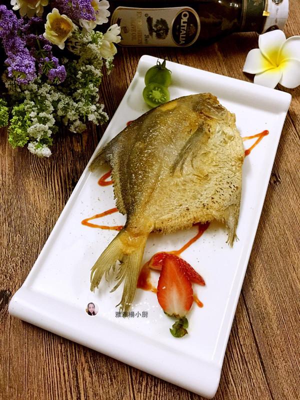 柠香煎金鲳鱼的做法