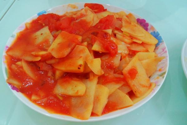 番茄土豆的做法