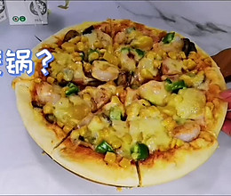 平底锅版披萨饼的做法