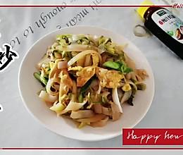 #百变鲜锋料理#比肉都香的素炒河粉的做法