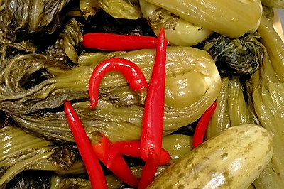 腌酸菜,酸菜炒肉沫