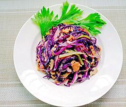 肉丝炒紫甘蓝的做法