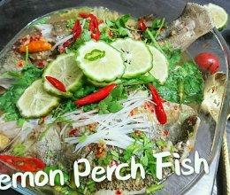 【蜜桃爱泰国菜】清蒸柠檬鲈鱼 Perch Lemon的做法