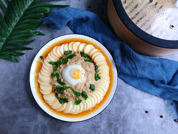 玉子豆腐肉沫蒸蛋的做法