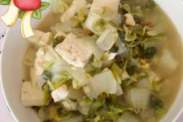 妈妈做的奶白菜炖豆腐的做法