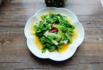 辣炒小白菜的做法