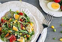 爽口的鸡蛋杂蔬沙拉的做法