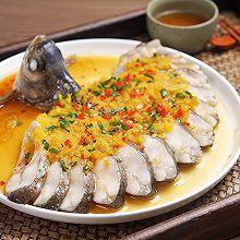 清蒸鱼的高阶版,色香味俱全——金汤孔雀开屏鱼