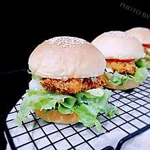 超松软香酥鸡腿汉堡包(汉堡胚+炸鸡腿超详细步骤)