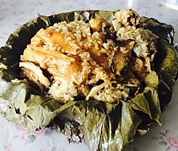 超简单的荷叶糯米蒸鸡的做法