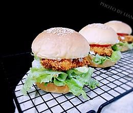 超松软香酥鸡腿汉堡包(汉堡胚+炸鸡腿超详细步骤)的做法