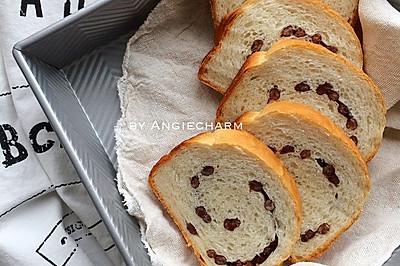 牛奶蜜豆面包(130分钟快速面包)