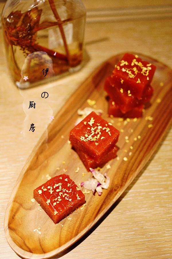 酸甜可口零添加的桂花山楂糕的做法