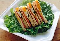 鸡蛋火腿三明治的做法