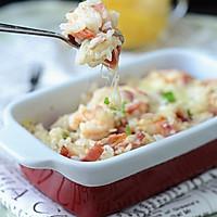 鲜虾焗饭#美的微波炉菜谱#的做法图解13