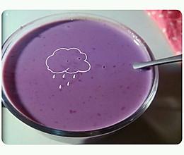 宿舍料理~紫薯牛奶的做法