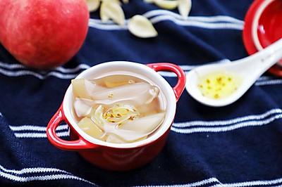 水蜜桃百合甜汤:清热润肺,改善便秘,新手必备#雀巢营养早餐#