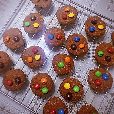 燕麦片m&m巧克力饼干