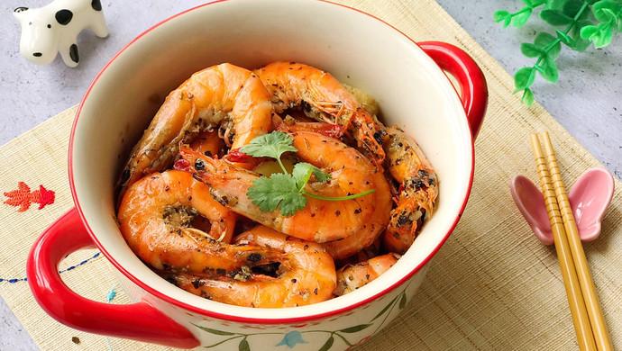 【新品】宴客菜 砂锅香草黑胡椒焗虾