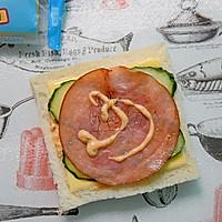 芝士火腿三明治#百吉福食尚达人#的做法图解5