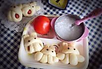 #嘉宝笑容厨房#奶香可爱卡通兔子火腿肠馒头的做法