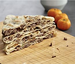 牛肉粒千层饼(低油快手早餐饼)的做法
