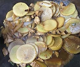 白萝卜炒肉的做法