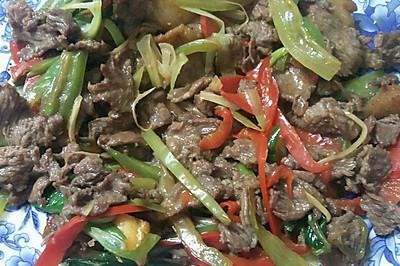 青红椒炒马肉