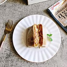 芝士培根鸡蛋卷饼#安佳马苏里拉芝士挑战赛#