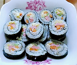 自制寿司 简易午饭的做法