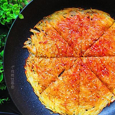 焦脆土豆丝煎饼
