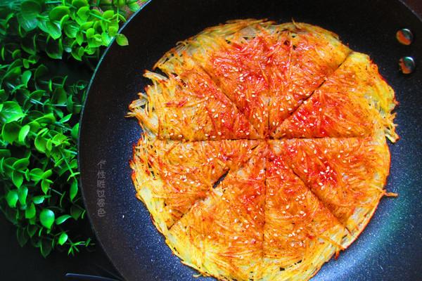 焦脆土豆丝煎饼的做法