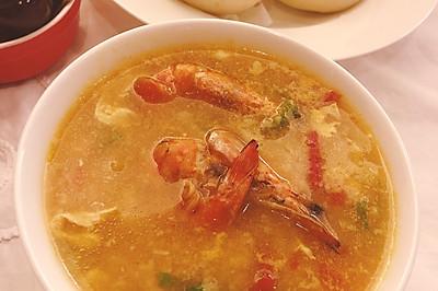 茄汁鲜虾疙瘩汤 快捷营养早晚餐